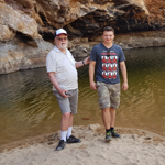 Nick de Groot and Maciej in Central Australia 150