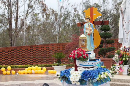 Vietnamese Marian Festival 2018 Mary flowers2 450